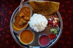 Παραδοσιακά ινδικά τρόφιμα - thali Στοκ εικόνα με δικαίωμα ελεύθερης χρήσης