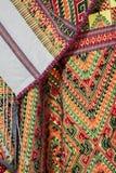 Παραδοσιακά κοστούμια που υφαίνονται με τα λαϊκά κλωστοϋφαντουργικά προϊόντα βαμβακιού/της Ταϊλάνδης Στοκ Εικόνες