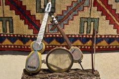 Παραδοσιακά μουσικά όργανα του Αζερμπαϊτζάν mugam στο αναμνηστικό στοκ εικόνα με δικαίωμα ελεύθερης χρήσης