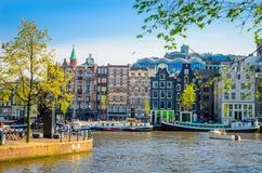 Παραδοσιακά παλαιά κτήρια στο Άμστερνταμ, Netherland Στοκ Φωτογραφίες