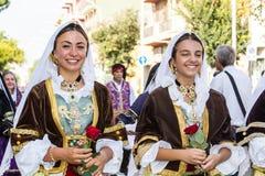 Παραδοσιακά σαρδηνιακά κοστούμια Στοκ Φωτογραφίες