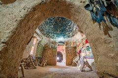 Παραδοσιακά σπίτια ερήμων τούβλου λάσπης κυψελών στοκ φωτογραφίες