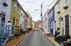 Παραδοσιακά σπίτια σε Annapolis Στοκ εικόνες με δικαίωμα ελεύθερης χρήσης