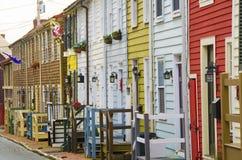 Παραδοσιακά σπίτια σε Annapolis Στοκ φωτογραφία με δικαίωμα ελεύθερης χρήσης