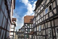 Παραδοσιακά σπίτια σε Marburg Στοκ φωτογραφία με δικαίωμα ελεύθερης χρήσης