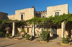 Παραδοσιακά σπίτια στο νησί της Κρήτης, Ελλάδα Στοκ Φωτογραφίες
