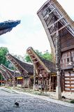 Παραδοσιακά σπίτια στο χωριό Kete Kesu, Tana Toraja, Sulawesi στοκ φωτογραφίες με δικαίωμα ελεύθερης χρήσης