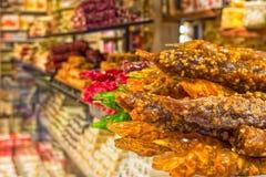 Παραδοσιακά τουρκικά γλυκά churchchel λεπτομερή - Kemer, Τουρκία Στοκ εικόνα με δικαίωμα ελεύθερης χρήσης