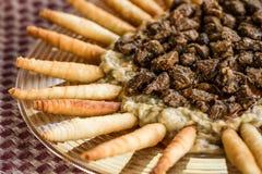 Παραδοσιακά τουρκικά τρόφιμα Hunkar Begendi που γίνεται με τη μελιτζάνα και το Μ στοκ φωτογραφίες με δικαίωμα ελεύθερης χρήσης