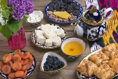 Παραδοσιακά του Ουζμπεκιστάν γλυκά στοκ φωτογραφία