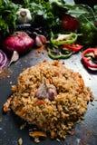 Παραδοσιακά του Ουζμπεκιστάν φυτικά υγιή τρόφιμα plov Στοκ Εικόνα