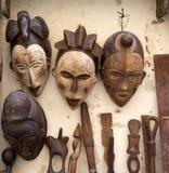 Παραδοσιακές αφρικανικές μάσκες Στοκ φωτογραφία με δικαίωμα ελεύθερης χρήσης