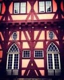 Παραδοσιακές γερμανικές εγχώριες είσοδοι ύφους οικοδόμησης σε Esslingen, ν Στοκ Φωτογραφίες