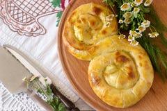 Παραδοσιακές σπιτικές ρουμανικές και μολδαβικές πίτες - saralie Στοκ Φωτογραφίες