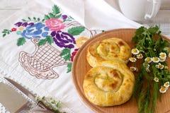 Παραδοσιακές σπιτικές ρουμανικές και μολδαβικές πίτες - saralie Στοκ Εικόνες