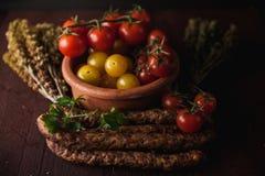 Παραδοσιακή απλή οργάνωση γεύματος με το κρέας και τα λαχανικά Στοκ Εικόνες
