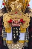 Παραδοσιακή από το Μπαλί μάσκα Barong στην τελετή οδών στο νησί Μπαλί, Ινδονησία Στοκ εικόνες με δικαίωμα ελεύθερης χρήσης