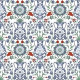 Παραδοσιακή αραβική διακόσμηση άνευ ραφής floral διακοσμητικό πρότυπο Iznik διάνυσμα Υπόβαθρο διανυσματική απεικόνιση