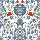 Παραδοσιακή αραβική διακόσμηση άνευ ραφής floral διακοσμητικό πρότυπο Iznik διάνυσμα Υπόβαθρο απεικόνιση αποθεμάτων
