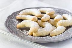Παραδοσιακή γερμανική βανίλια ημισεληνοειδές Vanillakip μπισκότων Χριστουγέννων Στοκ φωτογραφίες με δικαίωμα ελεύθερης χρήσης