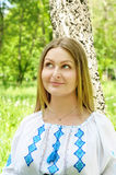 παραδοσιακή γυναίκα κο&si Στοκ Εικόνες