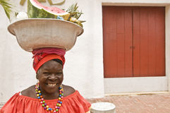 παραδοσιακή γυναίκα palenquera Στοκ Εικόνα