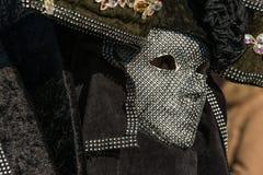 Παραδοσιακή ενετική μάσκα κοστουμιών καρναβαλιού Στοκ εικόνα με δικαίωμα ελεύθερης χρήσης