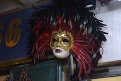 Παραδοσιακή ενετική μάσκα στο κατάστημα στην οδό, Βερόνα Ιταλία Στοκ εικόνες με δικαίωμα ελεύθερης χρήσης
