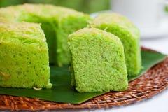 Παραδοσιακή ινδονησιακή έρημος κέικ σιφόν Pandan Στοκ Εικόνες