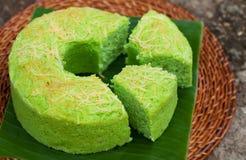 Παραδοσιακή ινδονησιακή έρημος κέικ σιφόν Pandan Στοκ Εικόνα