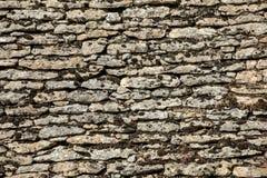 Παραδοσιακή κεραμωμένη στέγη στο Dordogne, το οποίο ενώ μόλις αρκετά κοινός στην περιοχή γίνεται πολύ σπάνιος Aquitaine, στοκ εικόνες