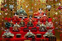 Παραδοσιακή κούκλα hina που διακοσμείται το Μάρτιο στην Ιαπωνία στοκ φωτογραφία με δικαίωμα ελεύθερης χρήσης