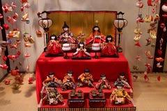 Παραδοσιακή κούκλα hina που διακοσμείται το Μάρτιο στην Ιαπωνία στοκ εικόνα