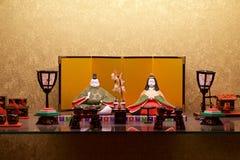 Παραδοσιακή κούκλα hina που διακοσμείται το Μάρτιο στην Ιαπωνία στοκ φωτογραφίες με δικαίωμα ελεύθερης χρήσης