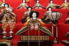Παραδοσιακή κούκλα hina που διακοσμείται το Μάρτιο στην Ιαπωνία στοκ φωτογραφία