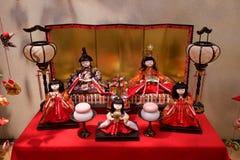 Παραδοσιακή κούκλα hina που διακοσμείται το Μάρτιο στην Ιαπωνία στοκ εικόνες με δικαίωμα ελεύθερης χρήσης