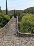 Παραδοσιακή νύφη ύφους τόξων σε Vergas Αιτωλοακαρνανία Ελλάδα στοκ φωτογραφίες