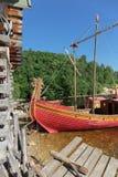 Παραδοσιακή παλαιά ξύλινη πλέοντας βάρκα ρωσικά Στοκ Φωτογραφίες