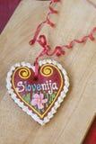 Παραδοσιακή σλοβένικη καρδιά μελοψωμάτων που ονομάζεται LECT Στοκ φωτογραφίες με δικαίωμα ελεύθερης χρήσης