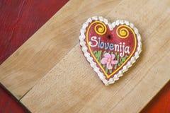 Παραδοσιακή σλοβένικη καρδιά μελοψωμάτων που ονομάζεται LECT Στοκ εικόνα με δικαίωμα ελεύθερης χρήσης