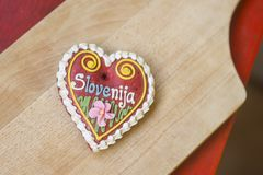 Παραδοσιακή σλοβένικη καρδιά μελοψωμάτων που ονομάζεται LECT Στοκ Εικόνες