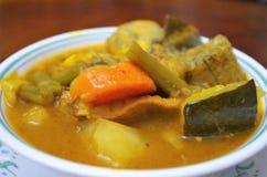 Παραδοσιακή σούπα της Ονδούρας της αγελάδας stomach sopa de mondongo στοκ φωτογραφίες με δικαίωμα ελεύθερης χρήσης