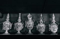 Παραδοσιακή ταϊλανδική παντομίμα μασκών ` Khon ` από το έπος Ramayana στοκ φωτογραφίες με δικαίωμα ελεύθερης χρήσης