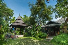 Παραδοσιακοί προορισμοί ταξιδιού θερέτρου και φύσης thail Στοκ εικόνα με δικαίωμα ελεύθερης χρήσης