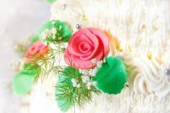 παραδοσιακός γάμος λεπτομέρειας κέικ στοκ εικόνα