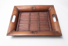 Παραδοσιακός ξύλινος δίσκος στοκ εικόνες με δικαίωμα ελεύθερης χρήσης