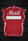 παραδοσιακός ξύλινος ταχυδρομικών θυρίδων Στοκ Εικόνα