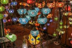 Παραδοσιακός τουρκικός λαμπτήρας ύφους από μεγάλο bazaar Στοκ φωτογραφία με δικαίωμα ελεύθερης χρήσης