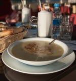 παραδοσιακός Τούρκος σούπας Στοκ Εικόνες