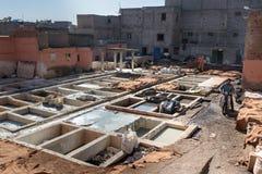 Παραδοσιακός φλοιός δέρματος Μαρακές Μαρόκο Στοκ εικόνες με δικαίωμα ελεύθερης χρήσης